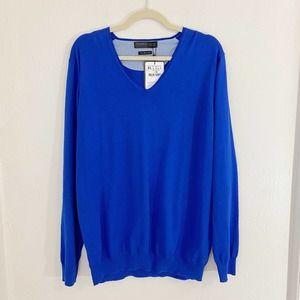 NWT Zara Man Royal Blue VNeck Long Sleeve Sweater